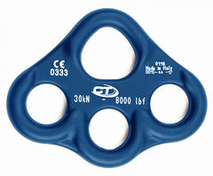 Такелажная пластина Climbing Technology CHEESE PLATE Small 30kN multianchor blue