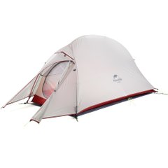 Одноместная палатка Nature Hike Cloud Up-1 20D Silicone Light grey /Red New (NH18T010-T)